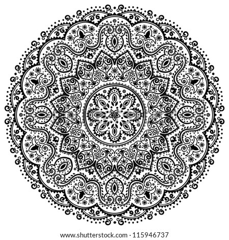 Indian Lace ornament - stock vector