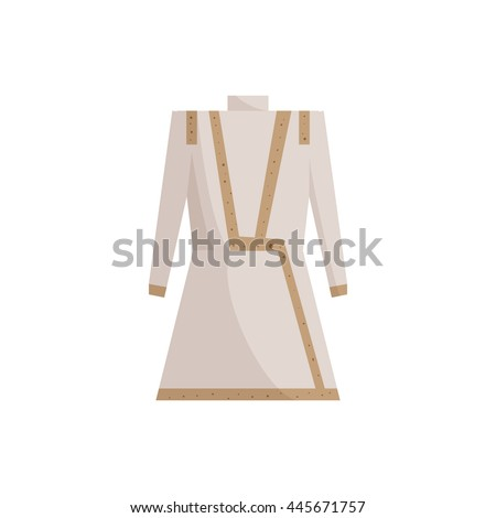 Indian male costume icon in cartoon style isolated on white background. National clothes symbol - stock vector