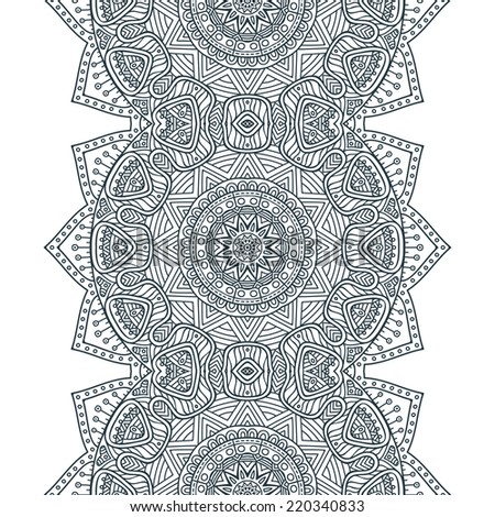 Indian seamless floral pattern. Vintage decorative elements. Hand drawn background. Islam, Arabic, Indian, ottoman motifs. - stock vector