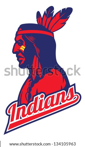 indian tribe mascot - stock vector
