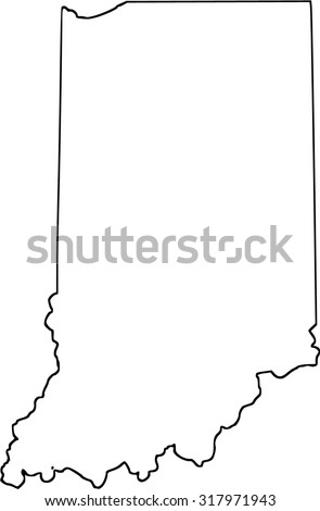Indiana - stock vector