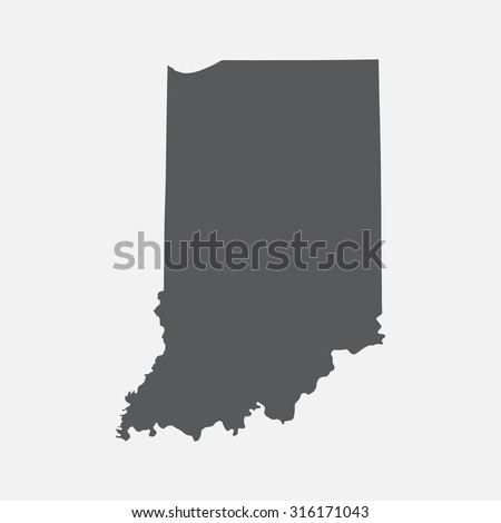 Indiana state border map. - stock vector