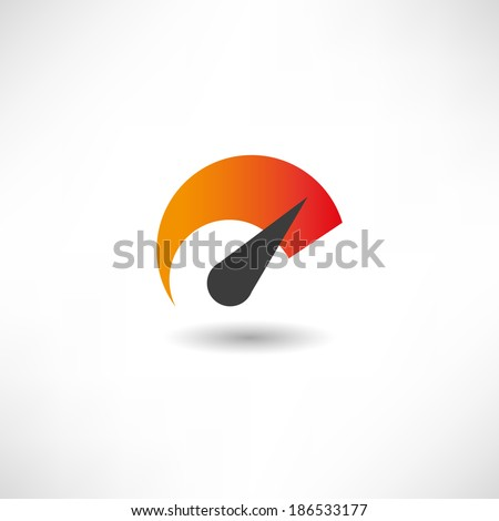 Indicator icon - stock vector