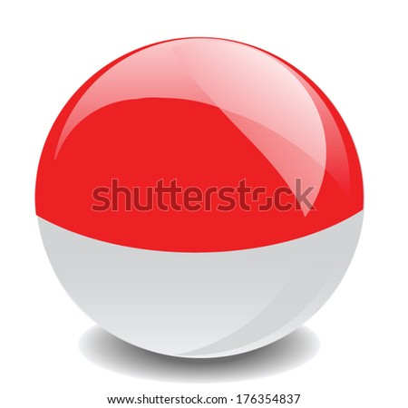 Indonesia flag vector - stock vector