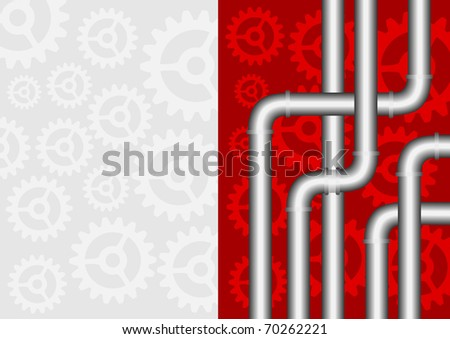 Industrial abstraction - stock vector