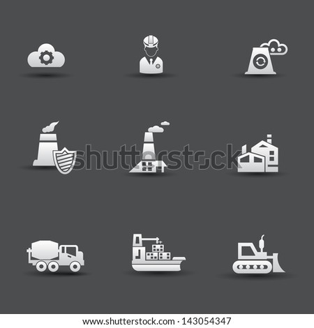 Industrial icons,vector - stock vector