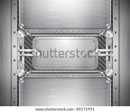 industrial iron background - stock vector