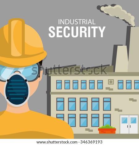 Industrial security equipment graphic design, vector illustration - stock vector