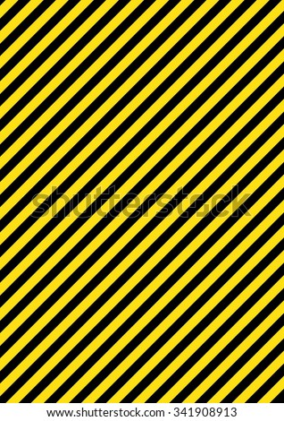 Industrial striped road warning yellow-black pattern vector - stock vector