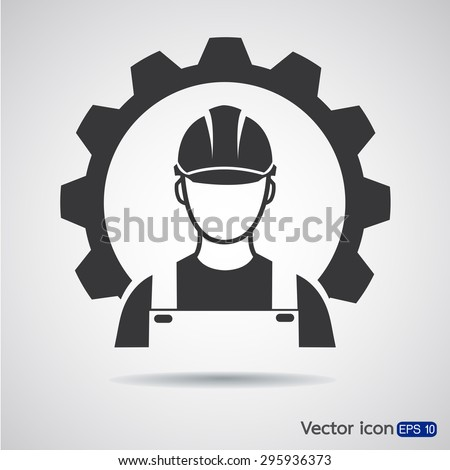 Industrial worker icon - stock vector