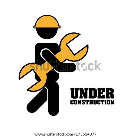 industrial workers over white background vector illustration - stock vector
