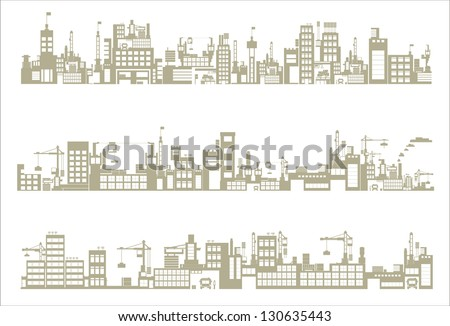 industry icons over white background. vector illustration - stock vector