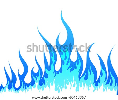 Inferno fire vector background for design use - stock vector