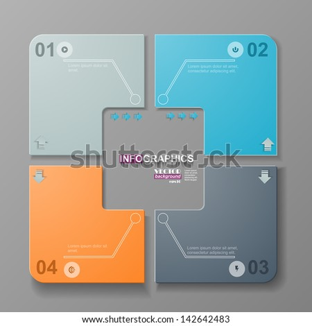 Infgraphic options, 01, 02, 03, 04 - stock vector