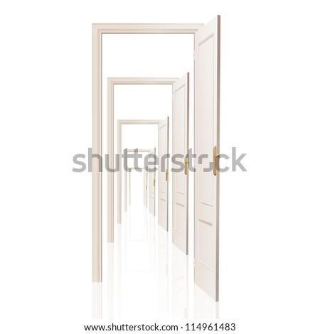 Infinite doors. Vector design. - stock vector