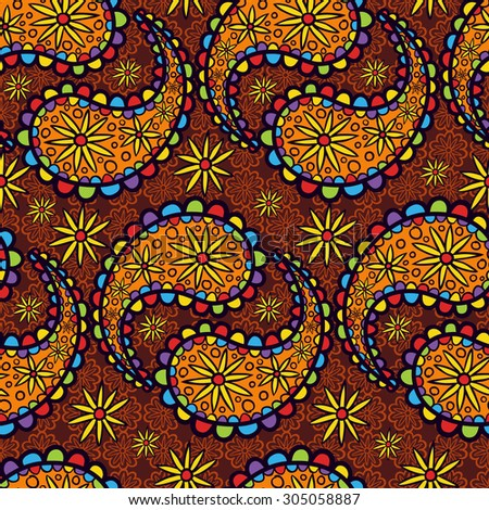 Infinite ornament oriental style. Vector background illustration. - stock vector