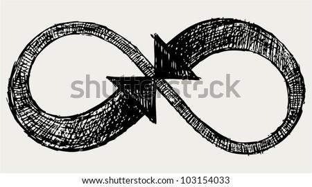 Infinity symbol. - stock vector