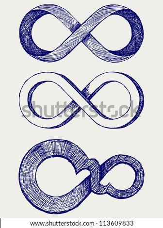 Infinity symbol - stock vector