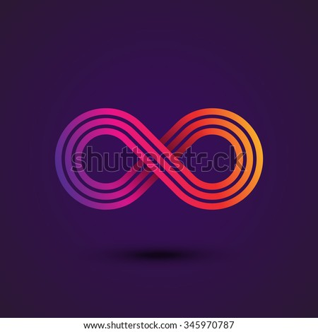 Infinity Symbol Icon or Logo Template. Vector Illustration. - stock vector