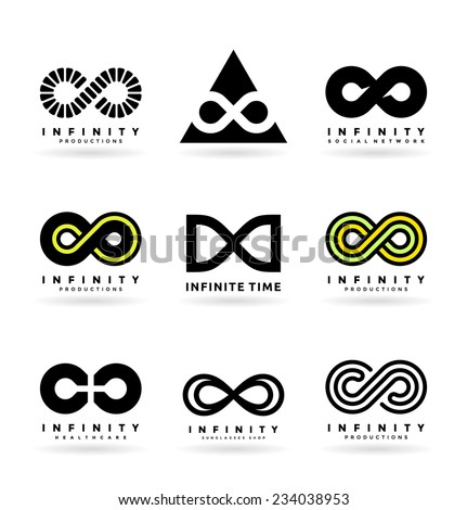 Infinity symbols (2) - stock vector