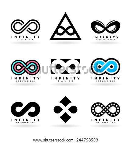 Infinity symbols (3) - stock vector