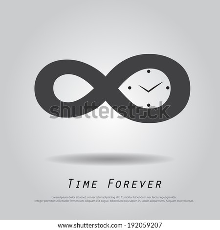 infinity time vector icon - stock vector