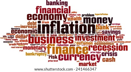Inflation word cloud concept. Vector illustration - stock vector