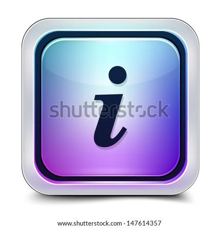 Info button - stock vector