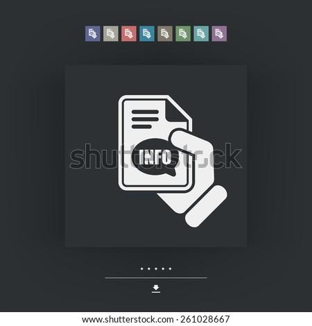 Info button icon - stock vector