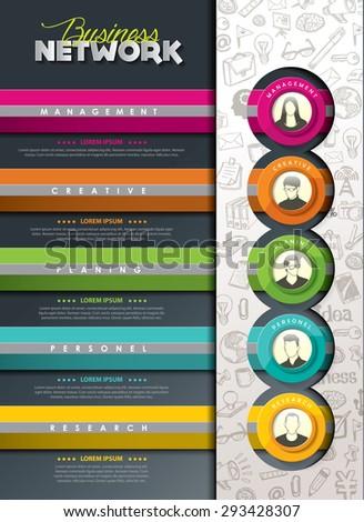 Info graphic design elements - stock vector