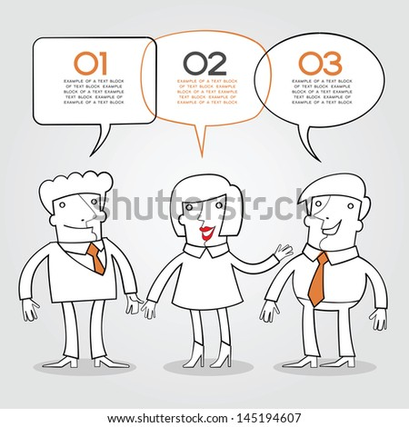 info-graphics background with text space. Business concept. Communication in a team.Team discussion - stock vector