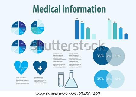 Info graphics Business information vector. - stock vector