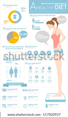 info graphics health diet  - stock vector