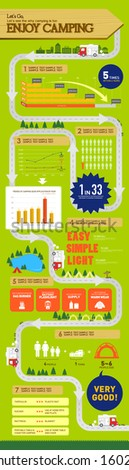 info graphics leisure camping - stock vector