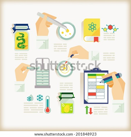 info-graphics of experiment - stock vector