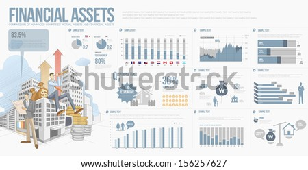 info graphics price index financial asset  - stock vector