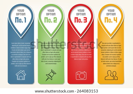Info graphics template - frames for your text. Vector illustration. - stock vector