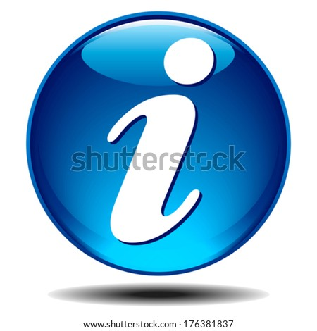 Info icon - Blue generic glossy information icon - stock vector