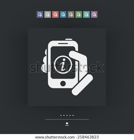 Info mobile device - stock vector