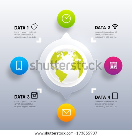 Infographic Abstract Digital Vector Template.  - stock vector