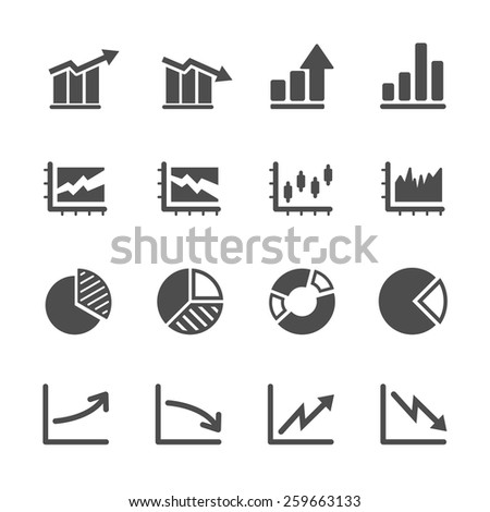 infographic and chart icon set 5, vector eps10. - stock vector