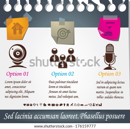 Infographic background - stock vector