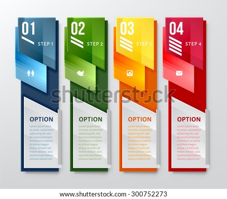 Infographic banner. Vertical design number banners template. Can be used for workflow layout, diagram, number options, web design. - stock vector