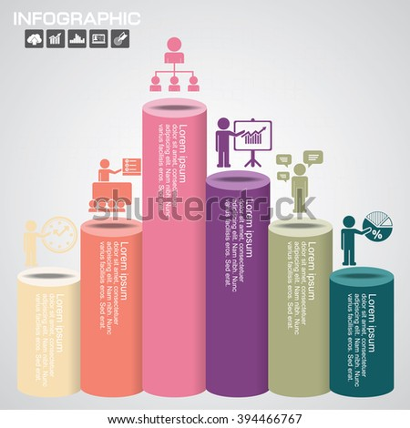 Infographic Business Concept - Creative Idea Illustration - vector with icons for presentation, booklet, website etc. - stock vector