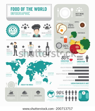 Infographic business of foods template design . concept vector illustration - stock vector