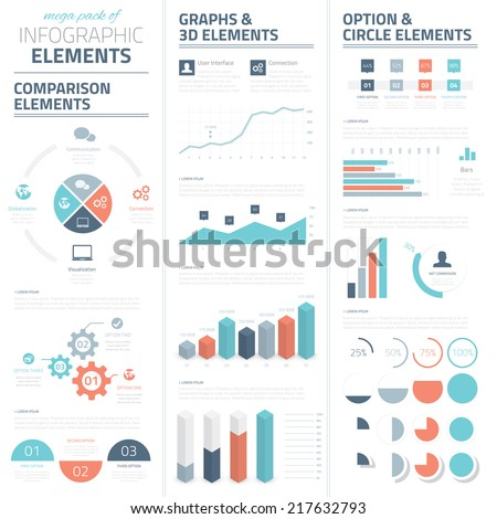 Infographic business vector elements collection - stock vector