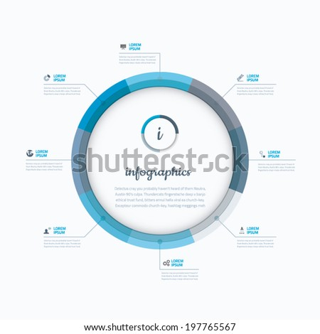 Infographic business web template vector blue options - stock vector