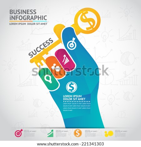 Infographic bussiness - stock vector