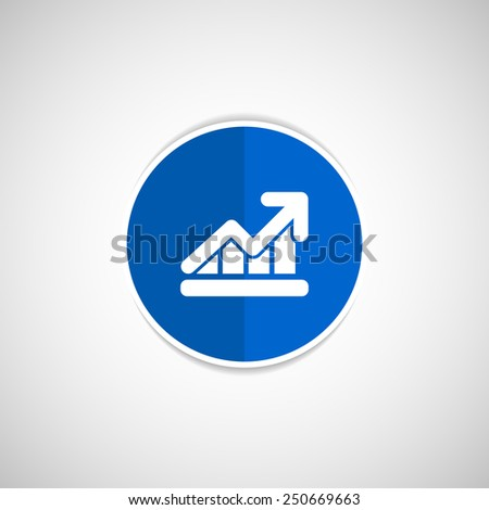 Infographic chart vector icon vector graph market business - stock vector