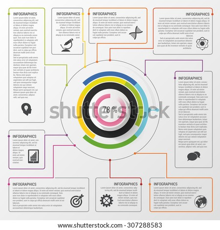 Infographic circle. Modern design template. Business concept. Vector illustration - stock vector